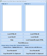 Compare Two HTML Files or Web Sites Software