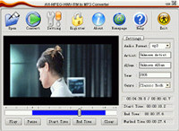 AVI MPEG WMV RM to MP3 Converter screenshot medium