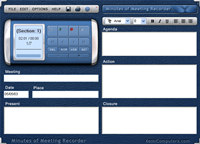Minutes of Meeting Recorder