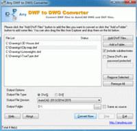 Any DWF to DWG Converter 2009.1 screenshot medium