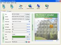 A4Desk Flash Event Calendar