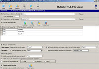 Multiple HTML File Maker