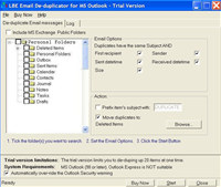LBE Email Deduplicator for MS Outlook