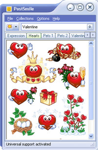 Valentine Smiley Collection for PostSmile