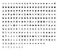 Wireframe black and white icon set