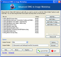 Advanced DWG to Image Workshop screenshot medium