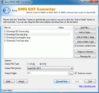 DWG to DXF Converter 2009.7