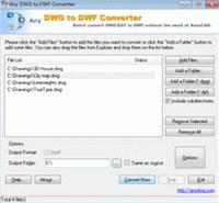DWG to DWF Converter 2009.9