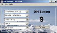 DIN Settings Calculator
