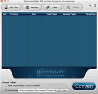 Doremisoft Mac PDF to HTML Converter