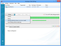 Auslogics Disk Defrag screenshot medium