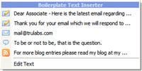 Boilerplate Template Text Inserter