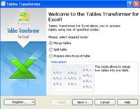 <b>Tables Transformer</b> for Excel