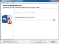 Recovery Toolbox for Word screenshot medium