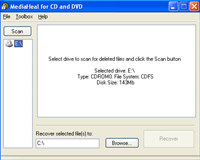 MediaHeal for CD and DVD screenshot medium