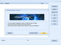 infallsoft Audio CD Buner screenshot medium