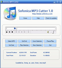 Sofonica MP3 Cutter