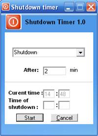 Sofonica Shutdown Timer