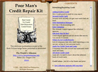 Poor Mans Credit Repair
