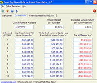 Free Pay Down Debt or Invest Calculator