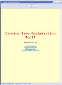 Landing Page Response Tool