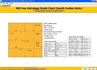 MB Astrology Rashi Chart (South Indian Style) screenshot medium