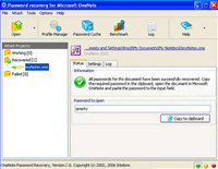 MS OneNote Password Recovery Software
