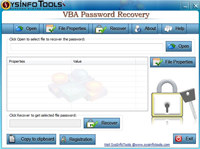 SysInfoTools VBA Password Recovery