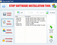 Stop Software Installation Tool