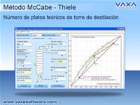 DTDF - Columna destilacion McCabe Thiele