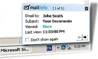 Mailinfo screenshot medium