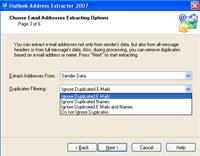 Outlook Address Extractor 2007 screenshot medium