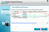 Windows Password Recovery Basic screenshot medium