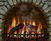 3D Realistic Fireplace Screen Saver
