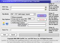 Advanced PDF to RTF Converter