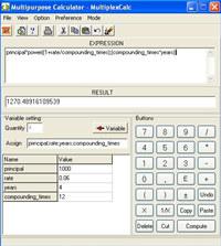 Multipurpose calculator - MultiplexCalc screenshot medium