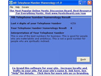 MB Telephone Number Numerology screenshot medium