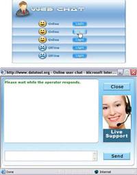 Multi operator Webchat Software