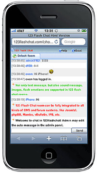 iPhone Chat Server by 123FlashChat