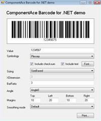 ComponentAce Barcode .NET screenshot medium
