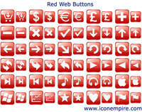 Red Web Buttons