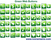 Green Web Buttons screenshot medium