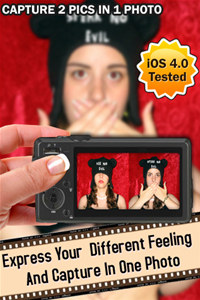 Photo Strip Maker - Capture 2 Pics In 1