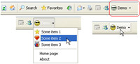 Demo button for Internet Explorer (IEDemoButton)