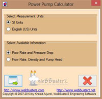 Pumping Power Calculator