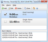Free Alarm Clock Portable screenshot medium