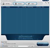 Doremisoft PDF to Word Converter
