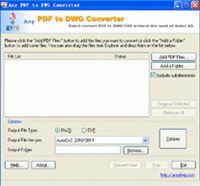 Any PDF to DXF Converter 2010.11.6 screenshot medium