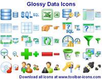 Glossy Data Icons