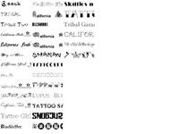 tattoo Font Pack